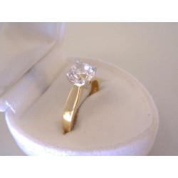 Zlatý dámsky prsteň zirkón v korunke DP50239V viacfarebné zlato 14 karátov 585/1000 2,39 g