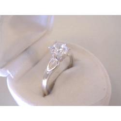 Zlatý dámsky prsteň biele zlato zirkón DP58250B 14 karátov 585/1000 2,50 g