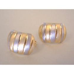 Dámske zlaté naušnice viacfarebné zlato DA225V 14 karátov 585/1000 2,25 g