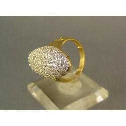 Zlatý prsteň so zirkónmi žlté zlato VP56550Z