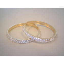 Zlaté dámske naušnice kruhy so zirkónmi VA764Z žlté zlato 14 karátov 585/1000 7,64 g