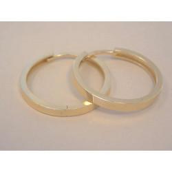 Dámske zlaté naušnice kruhy hladký povrch VA346Z žlté zlato 14 karátov 585/1000 3,46 g