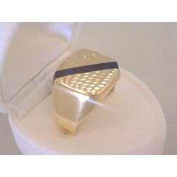 Pánsky zlatý prsteň žlté  zlato jemný vzor VP62427Z 14 karátov 585/1000 4,27 g