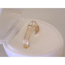 Zlatý dámsky prsteň žlté zlato zirkóny VP55272Z 14 karátov 585/1000 2,72 g