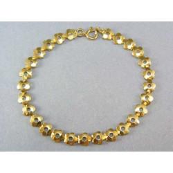 Zlatý náramok zo žltého zlata kvietkovaný vzor VN18363Z
