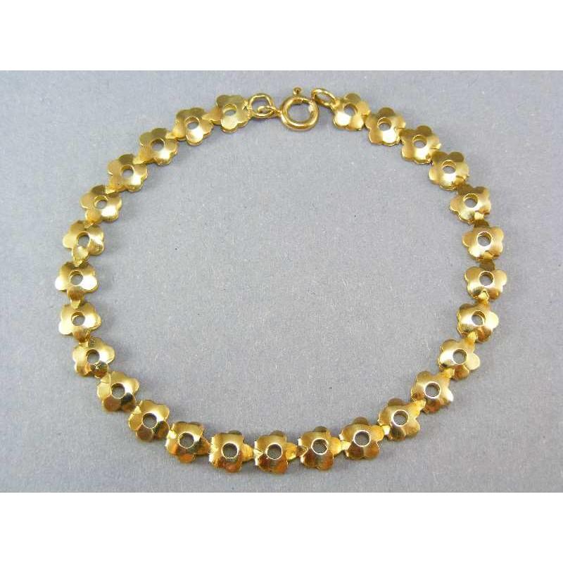 c5e30c951 Náramok zo žltého zlata kvietkovaný vzor