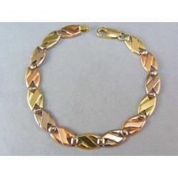 Zlatý náramok elegantný trojfarebný VN191538V