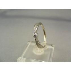 Zlatý dámsky prsteň biele zlato VP57180/1B