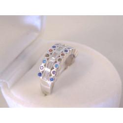 Strieborný dámsky prsteň farebné kamienky zirkónu VPS52380 925/1000 3,80 g