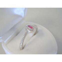 Strieborný dámsky prsteň farebné očko VPS60202 925/1000 2,02 g