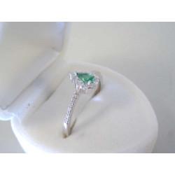 Strieborný dámsky prsteň so slzičkou farebný zirkón VPS59206 925/1000 2,06 g