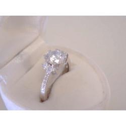 Dámsky ródiovaný strieborný prsteň zirkón v korunke VPS52352 925/1000 3,52 g