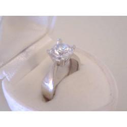Ródiovaný dámsky strieborný prsteň veľký zirkón VPS52320 925/1000 3,20 g