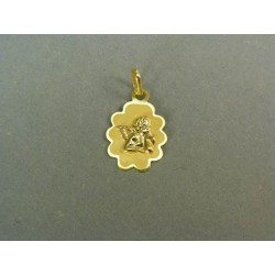 Zlatý prívesok anjel žlté zlato VI061ZZ