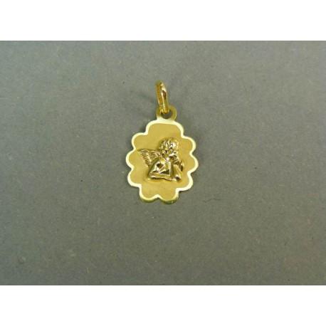 Zlatý prívesok anjel žlté zlato