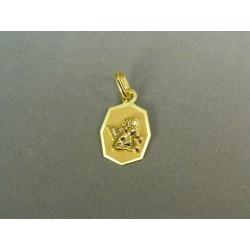 Zlatý prívesok anjel žlté zlato hranatá platnička VI055ZZ