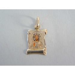 Zlatý prívesok s Ježišom DI103Z žlté zlato 14 karátov 585/1000