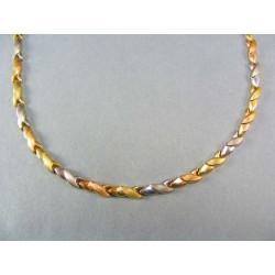 Zlatá retiazka dámska trojfarebné zlato VR431083