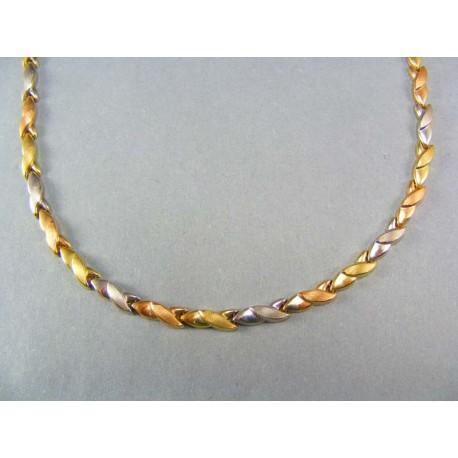 Zlatá retiazka dámska trojfarebné zlato