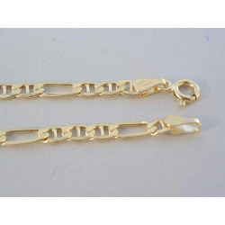 Zlatá retiazka vzor FIGARO DR55472Z žlté zlato 14 karátov 585/1000 4,72g