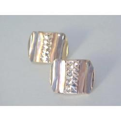 Zlaté dámske naušnice vzorované viacfarebné zlato DA193V 14 karátov 585/1000 1,93 g