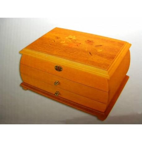 Šperkovnica drevená svetlé drevo