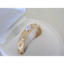 Zlatý prsteň ruženec žlté zlato zirkón DP60364Z 14 karátov 585/1000 3,64g