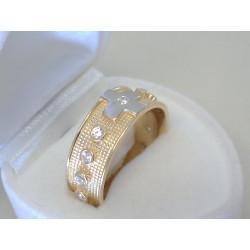 Zlatý prsteň ruženec žlté zlato zirkóny DP59545Z 14 karátov 585/1000 5,45g