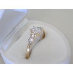 Zlatý dámsky prsteň viacfarebné zlato zirkón DP57257V 14 karátov 585/1000 2,57g