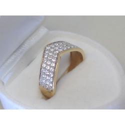 Zlatý dámsky prsteň žlté zlato zirkóny DP51360Z 14 karátov 585/1000 3,60g