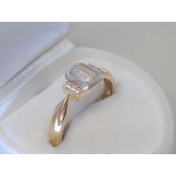 Zlatý dámsky prsteň zirkóny žlté zlato DP55326Z 14 karátov 585/1000 3,26g