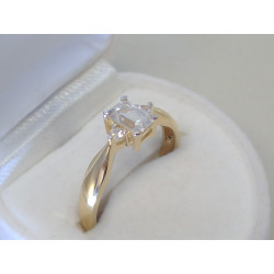 Zlatý dámsky prsteň žlté zlato zirkón DP57268Z 14 karátov 585/1000 2,68g