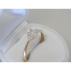 Zlatý dámsky prsteň žlté zlato zirkón DP61215Z 14 karátov 585/1000 2,15g