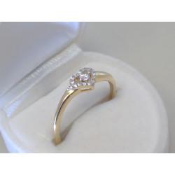 Zlatý dámsky prsteň žlté zlato zirkóny DP58166Z 14 karátov 585/1000 1,66g