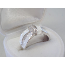 Strieborný dámsky prsteň zirkón DPS52405 925/1000 4,05g