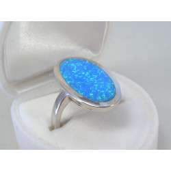 Strieborný dámsky prsteň opál DPS57549 925/1000 5,49g