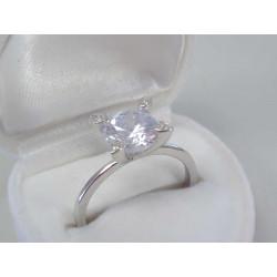 Strieborný dámsky prsteň zirkón DPS57279 925/1000 2,79g
