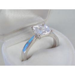 Strieborný dámsky prsteň zirkón opál DPS59411 925/1000 4,11g