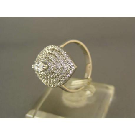 Zlatý prsteň biele zlato so zirkónokmi
