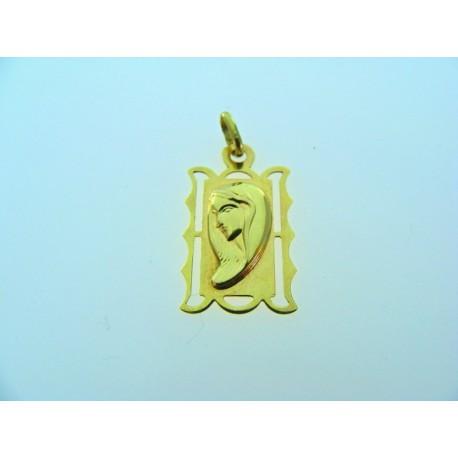 Zlatý prívesok žlté zlato panna Mária