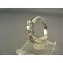 Diamantový prsteň biele zlato VD55400