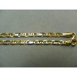 Zlatá retiazka dvojfarebna žlté a biele zlato DR50982