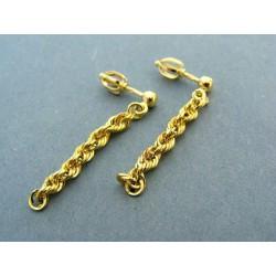Zlaté náušnice žlte zlato visiace