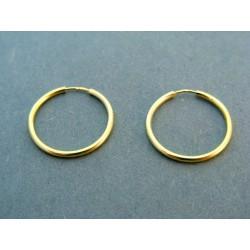 Zlaté náušnice žlté zlato kruhy DA103Z žlté zlato 14 karátov 585/1000 1,03 g