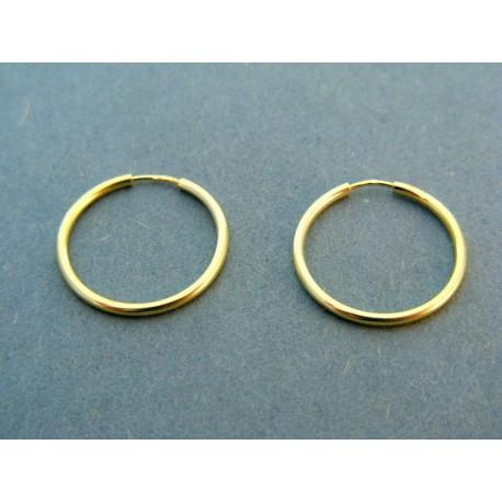 Zlaté náušnice žlté zlato kruhy