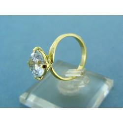 Zlatý dámsky prsteň žlté zlato s veľkým zirkónom VP48345Z