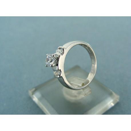 Dámsky prsteň biele zlato kameň brúsené zirkóny
