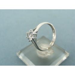 Zlatý prsteň z bieleho zlata kameň zirkón VP50203B