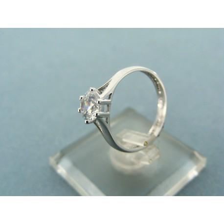 Prsteň z bieleho zlata kameň zirkón