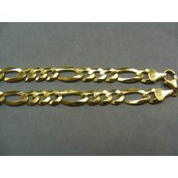 Zlatá retiazka žlté zlato vzor figaro VR551775